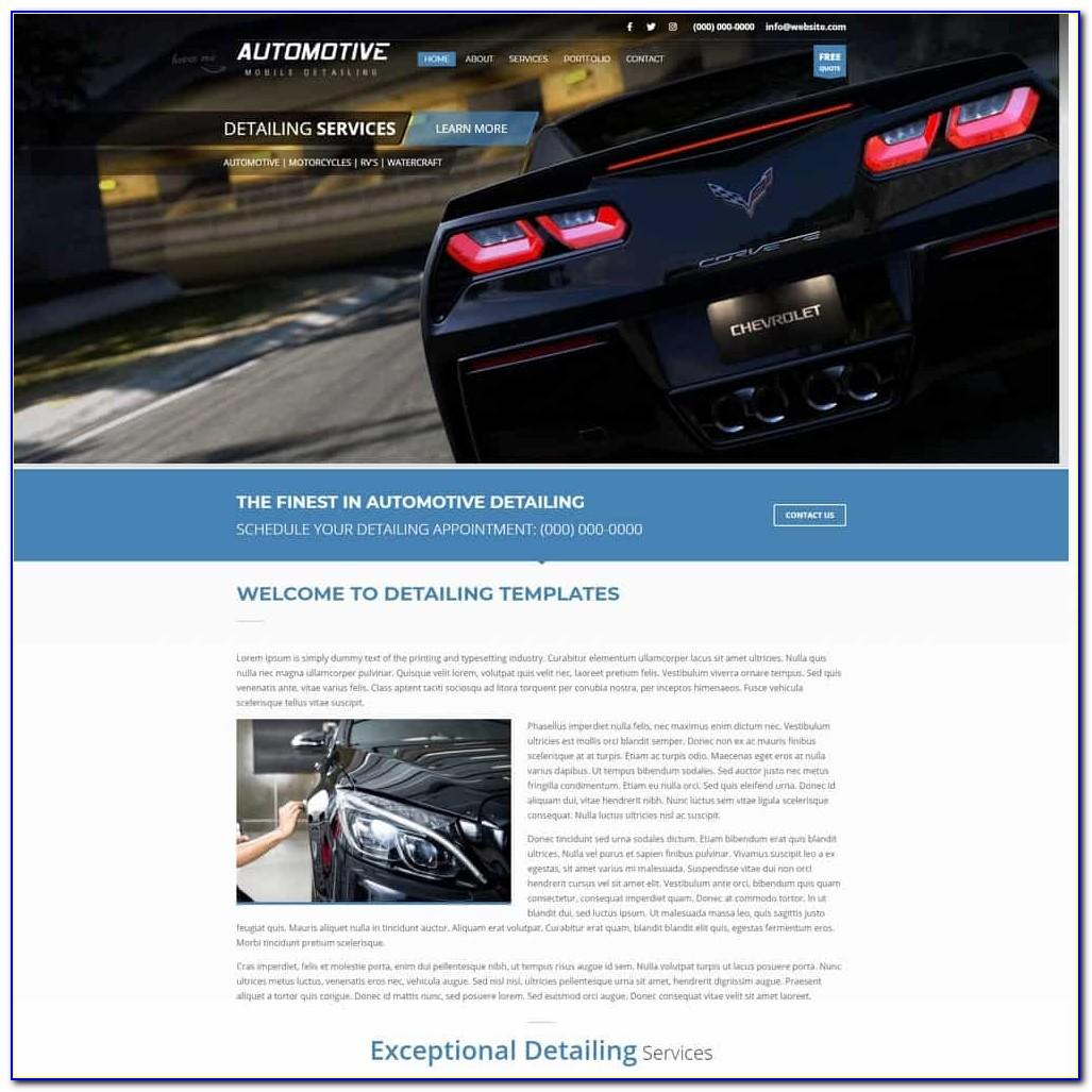 Auto Detailing Website Templates