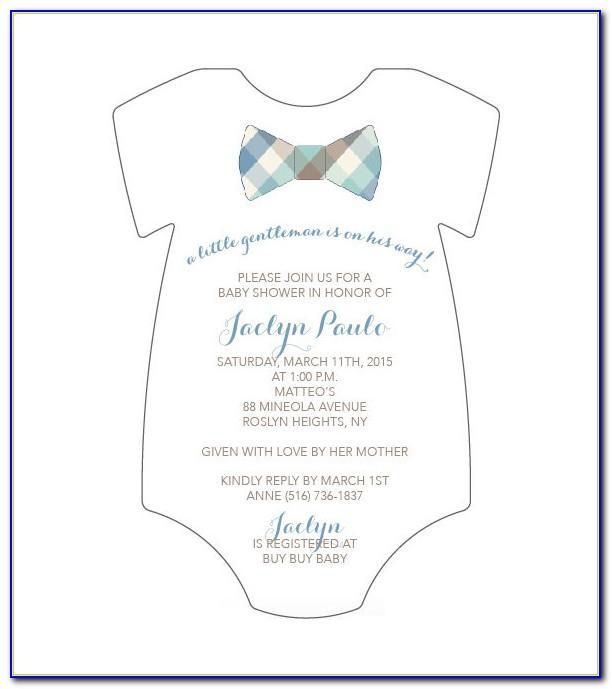 Baby Shower Invitations Onesie Template