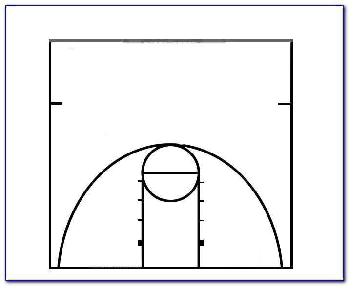 Basketball Half Court Template