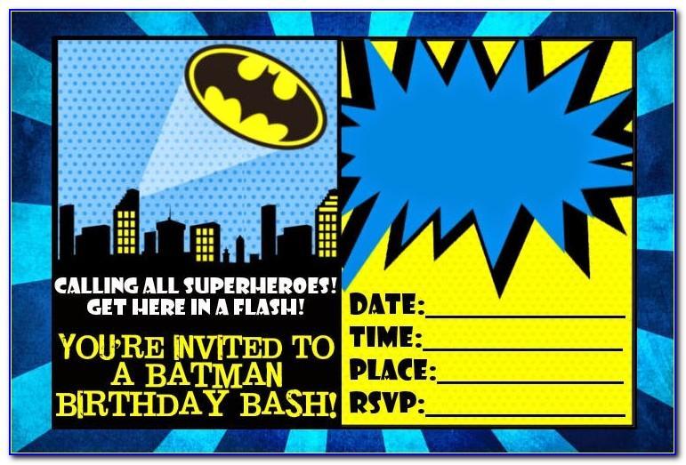Batman Invitation Template Png