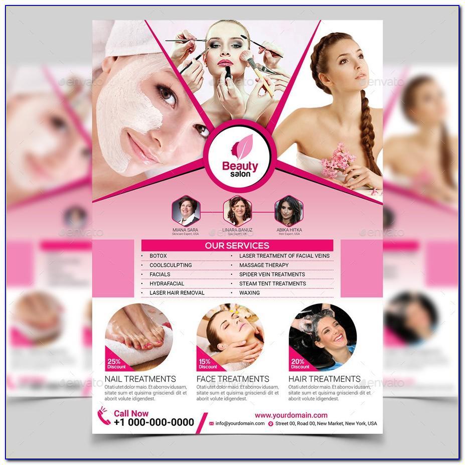 Beauty Salon Flyers Templates Free