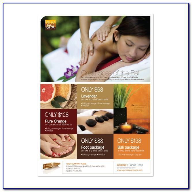Beauty Salon Leaflet Template Free