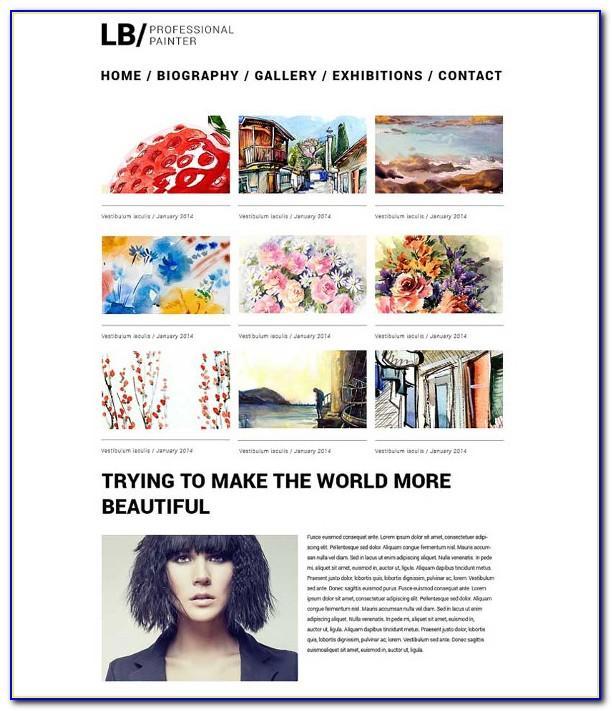 Best Artist Portfolio Website Templates