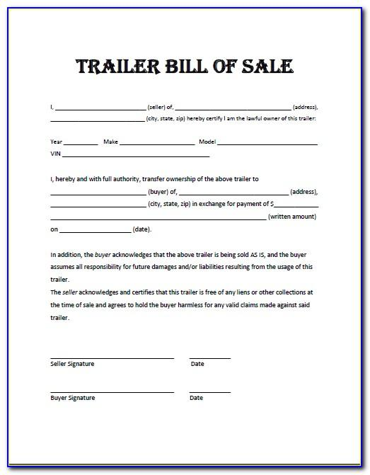 Bill Of Sale Template Boat Pdf