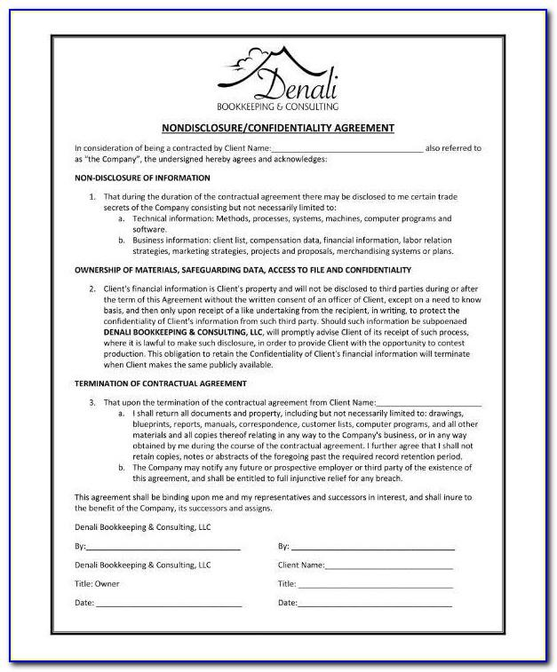 Bookkeeping Agreement Form