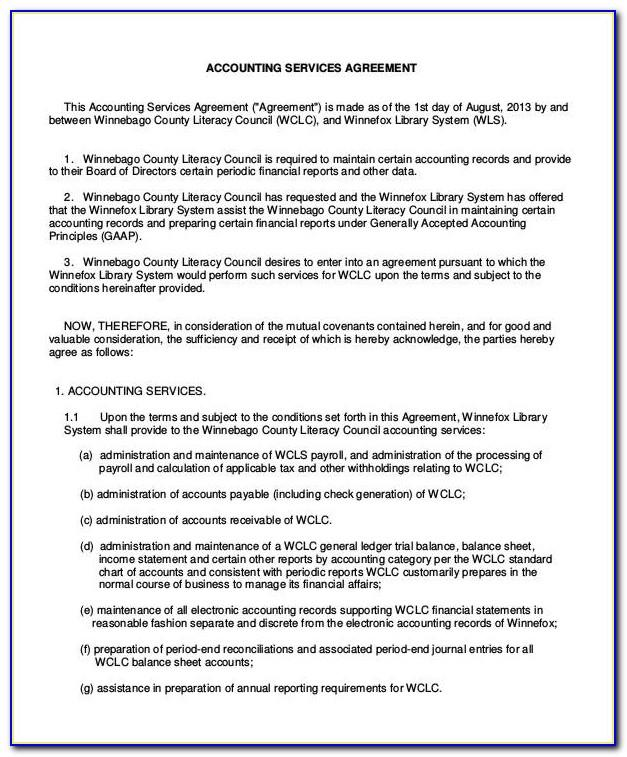 Bookkeeping Service Agreement Template