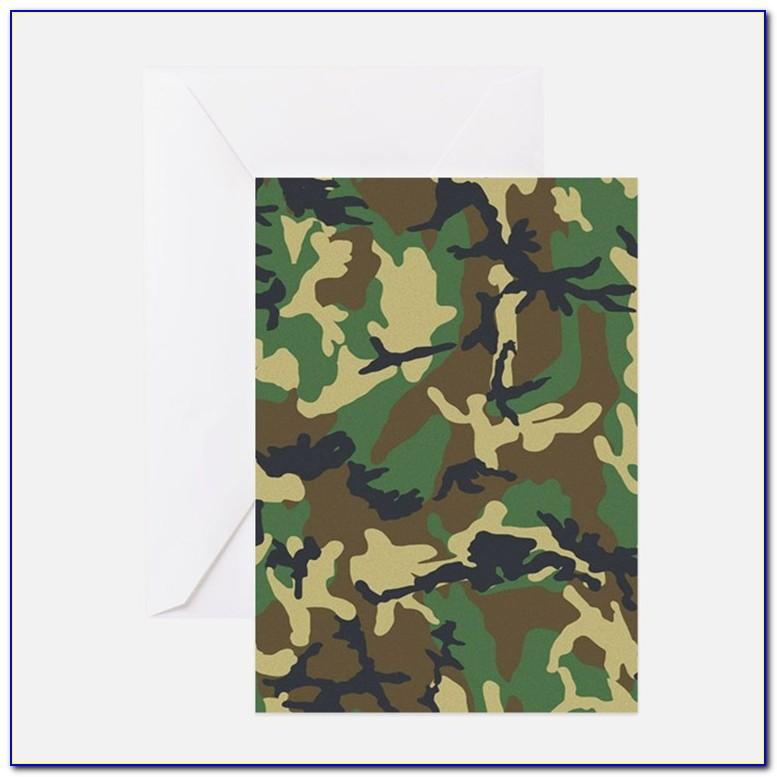 Camo Birthday Card Template