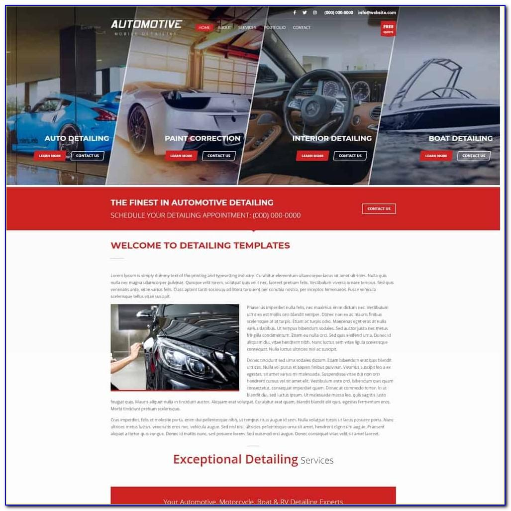 Car Detailing Website Template