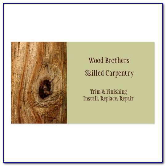 Carpenter Visiting Card Template