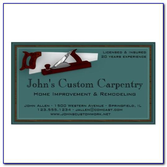 Carpentry Business Card Templates Free