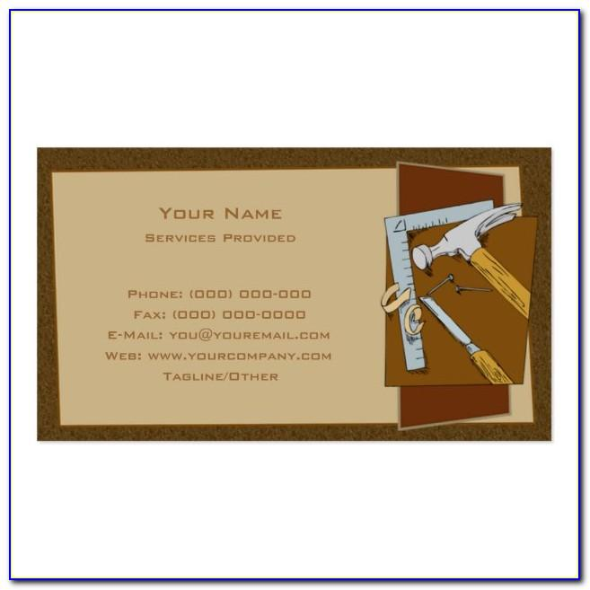 Carpentry Business Cards Templates