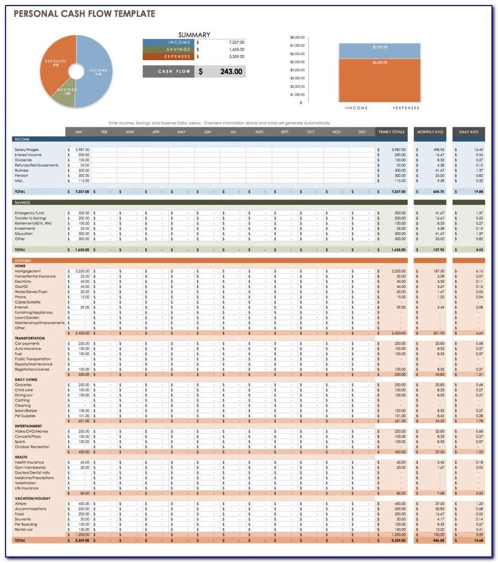 Cash Flow Statement Template Excel Free Download