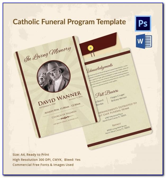 Catholic Funeral Program Template Free