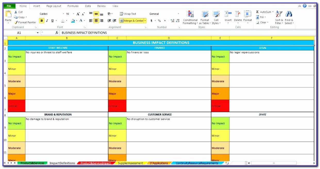 Change Management Impact Analysis Template