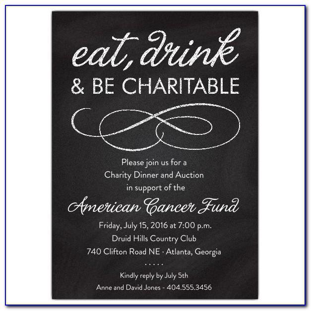 Charity Ball Invitation Template