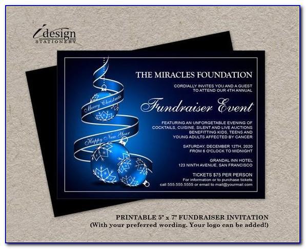 Charity Dinner Invitation Template