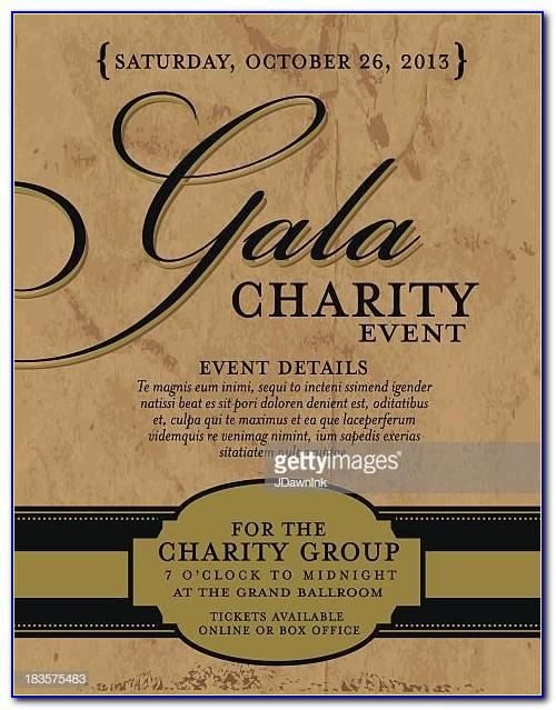 Charity Gala Invitation Templates