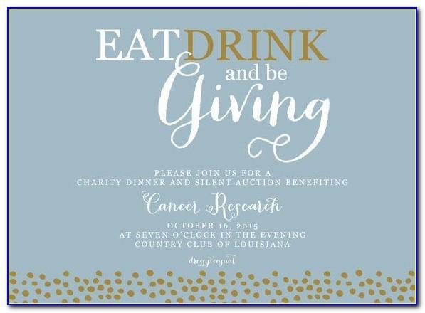 Charity Invitation Template