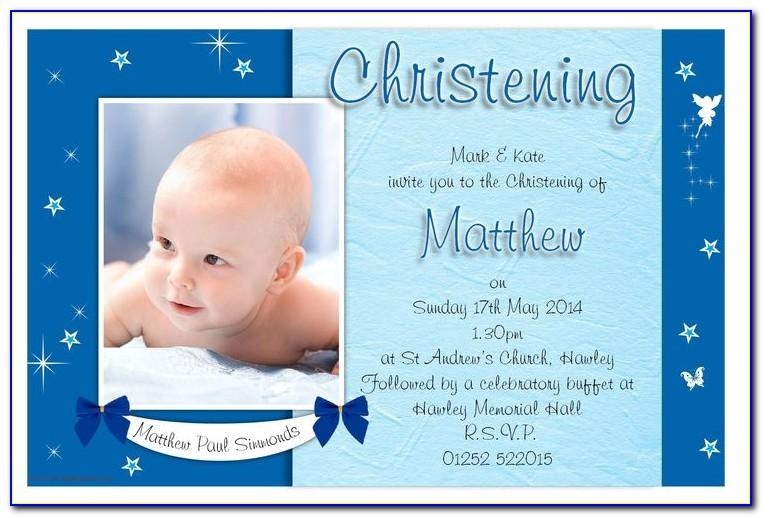 Child Dedication Invitation Card Samples