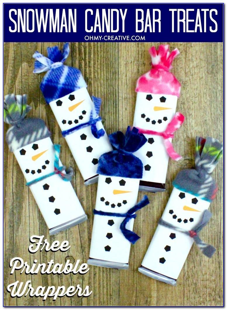 Christmas Chocolate Bar Wrapper Template