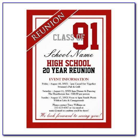 Class Reunion Announcements Templates