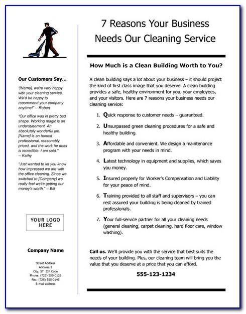 Cleaning Service Business Plan Template Free