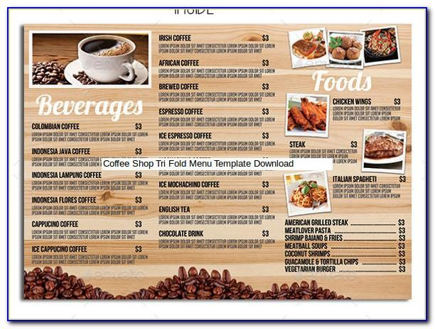 Coffee Shop Menu Template Psd