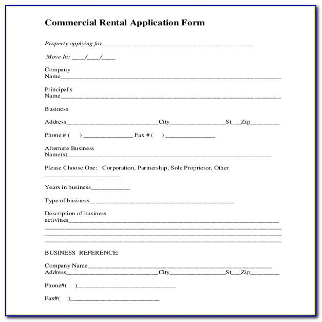 Commercial Space Rental Application Template