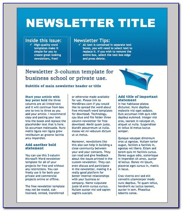 Company Newsletter Template Microsoft Word