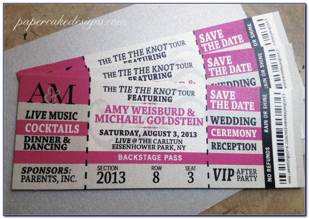 Concert Ticket Invite Template