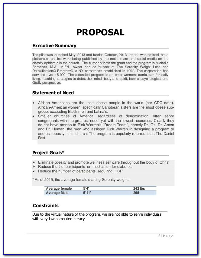 Corporate Fitness Proposal Template
