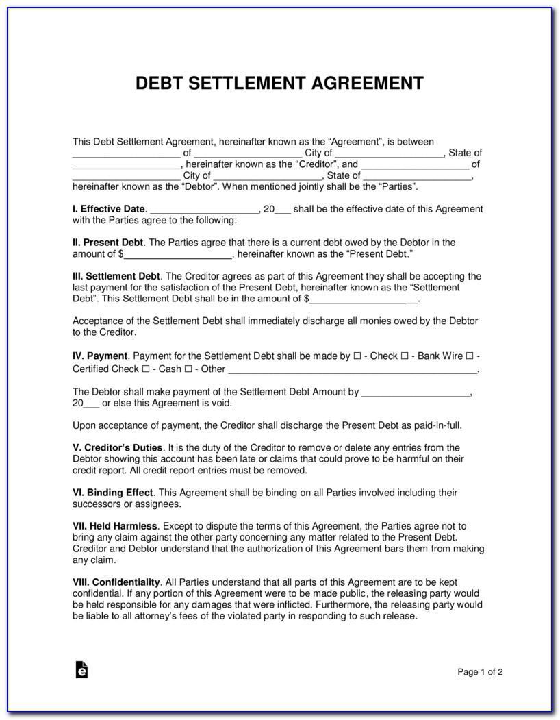 Debt Settlement Proposal Letter Template