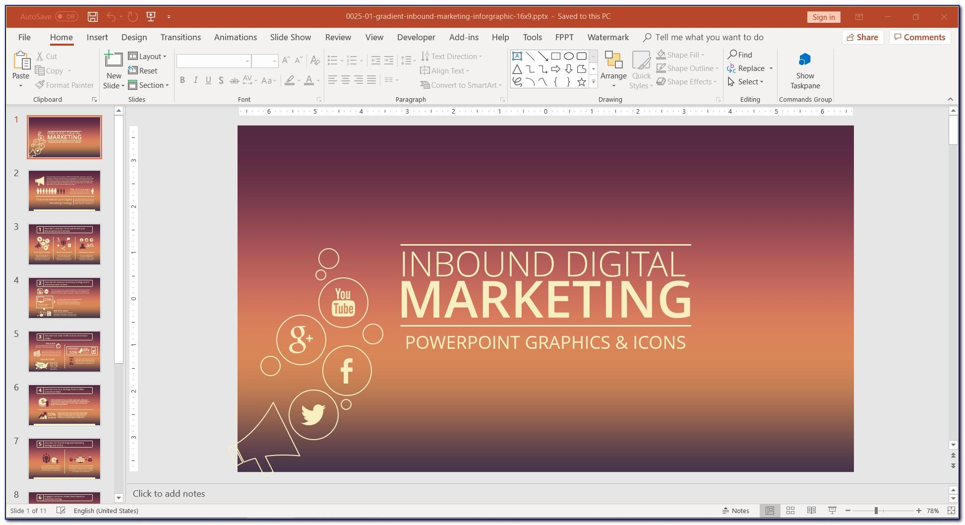Digital Marketing Powerpoint Templates Free Download