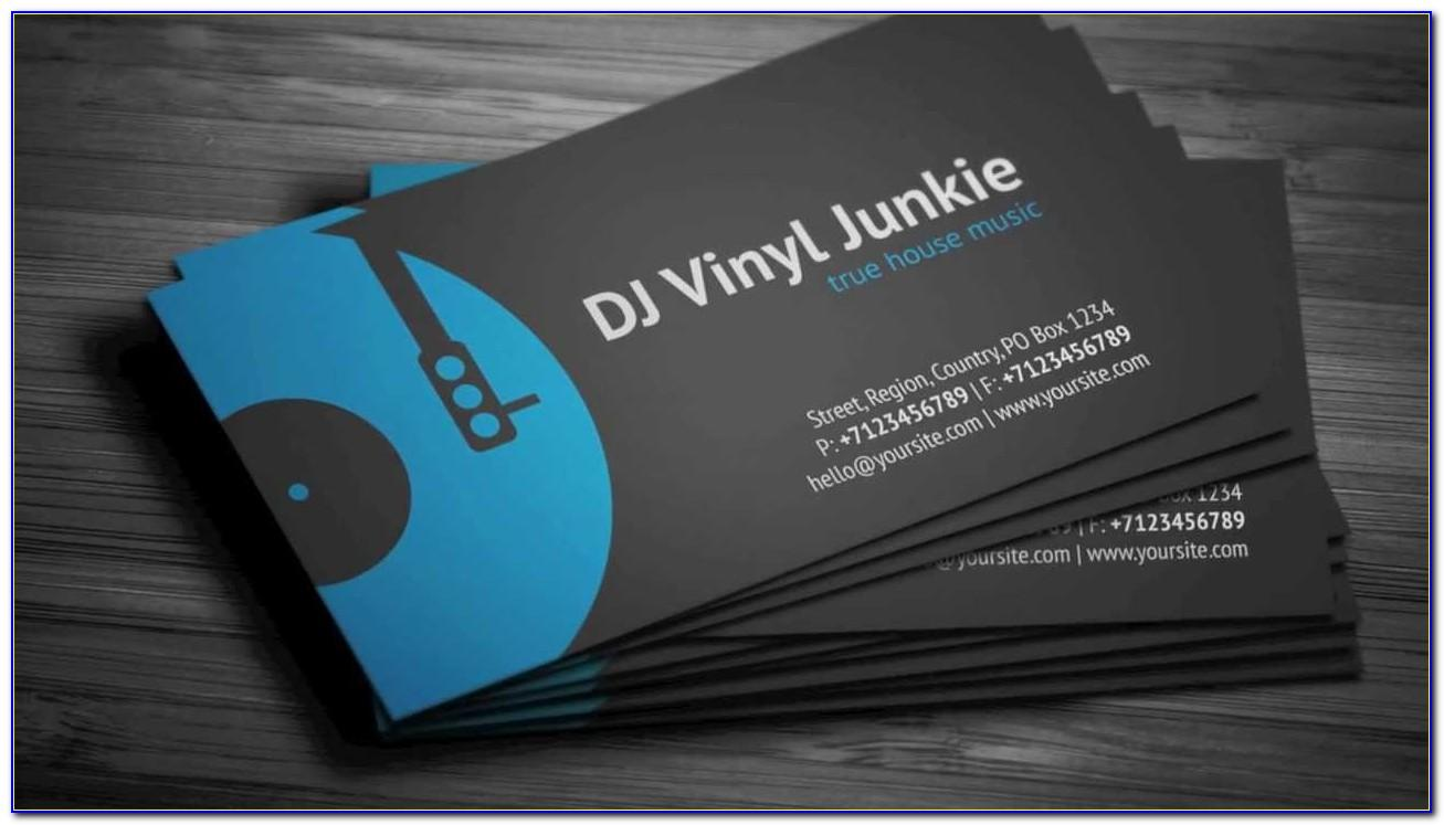 Dj Business Card Template Free Download