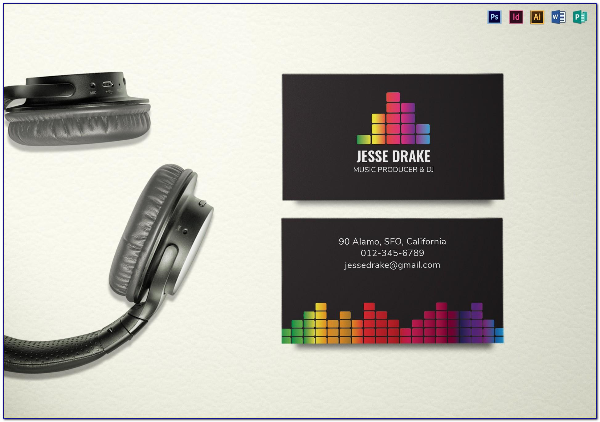 Dj Business Card Template Psd Free Download