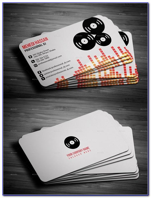 Dj Business Cards Templates Free Vector Download