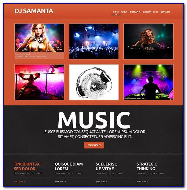 Dj Website Templates Free Download
