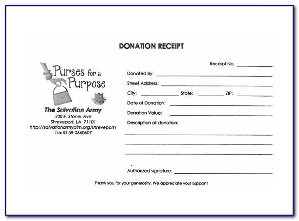 Donation Form Template Free