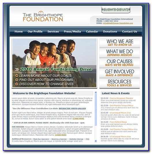Download Free Website Templates For Charity Organization
