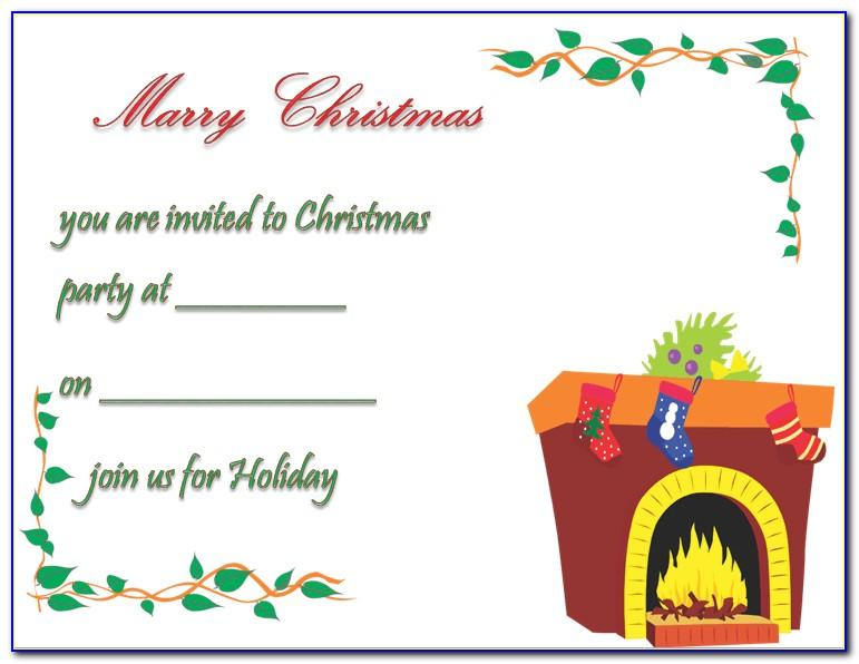Downloadable Christmas Party Invitations Templates Free Printables