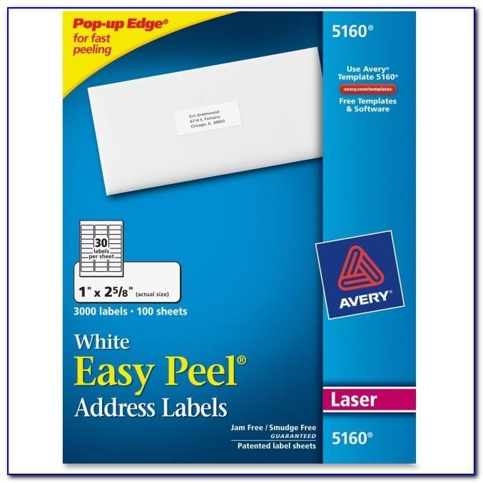 Easy Peel Avery Template 5160