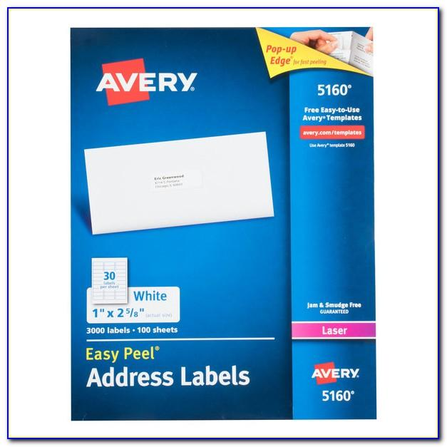 Easy Peel Labels Use Avery Template 5160