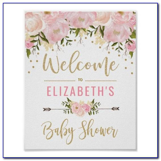 Editable Baby Shower Welcome Sign Template