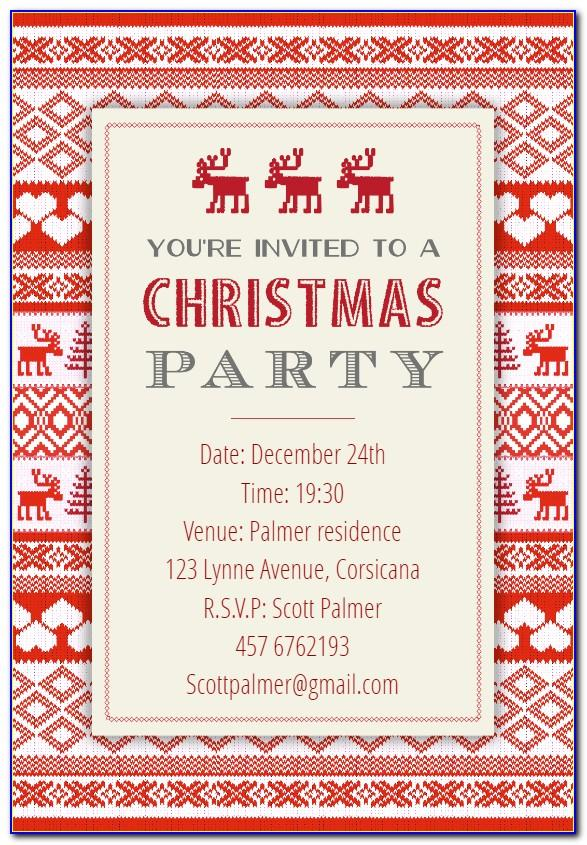Editable Free Holiday Party Invitation Templates Word