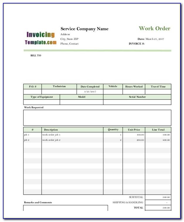Electrician Invoice Example