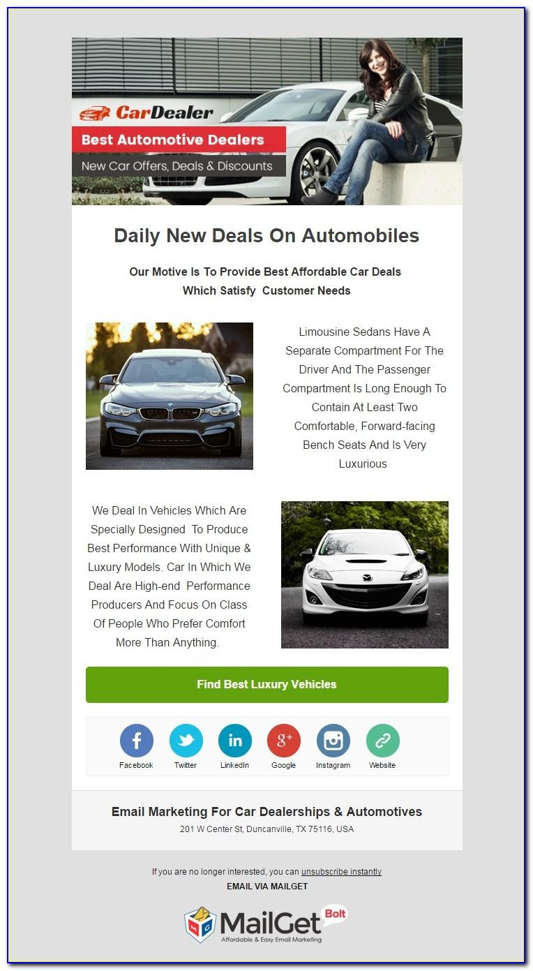 Email Templates For Car Dealers