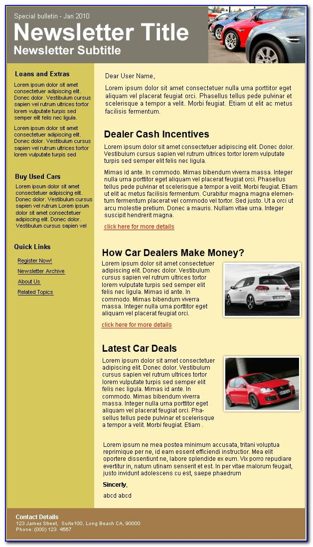 Email Templates For Car Dealerships