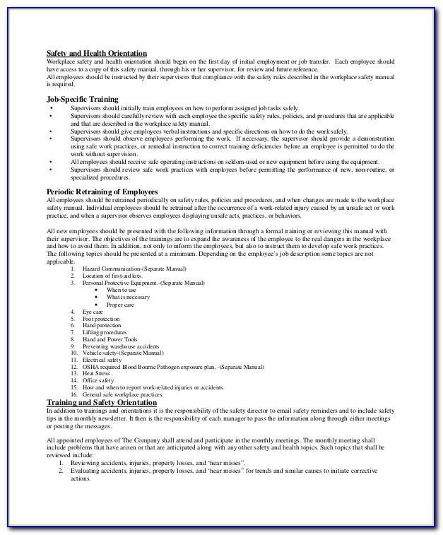 Employee Handbook Template Minnesota