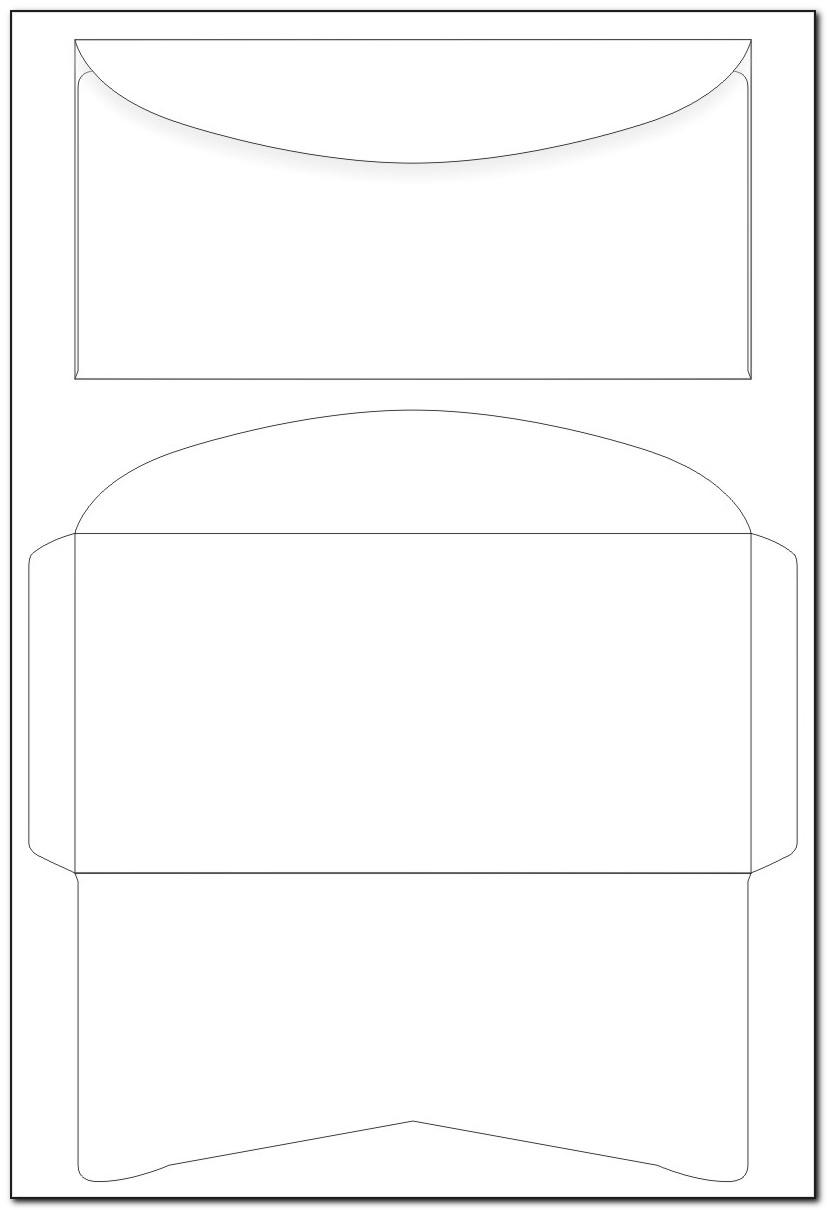 Envelope Template Printable A4