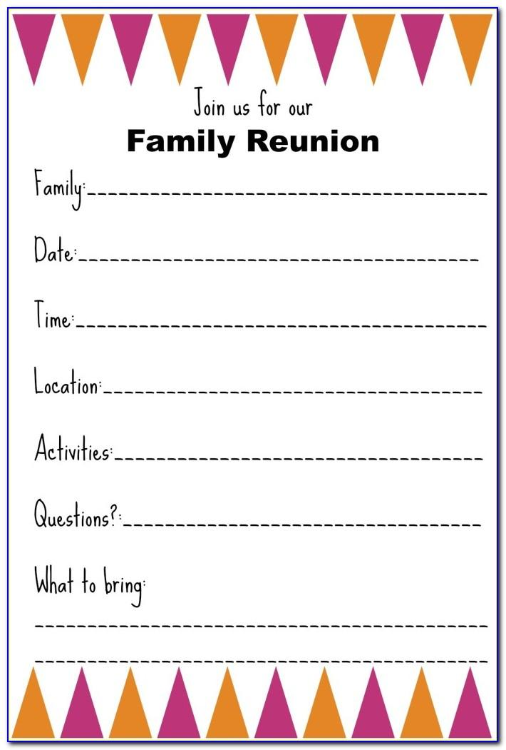 Family Reunion Invitations Templates Free